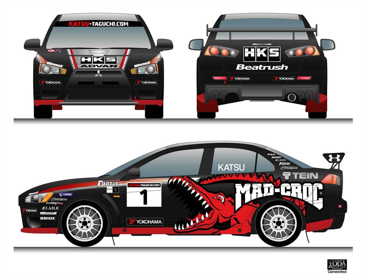 【自動車競技】カツ、全日本ダートトライアル車両の三菱・ランサーエボリューションXはマッドクロックカラー芸能・スポーツ速報+